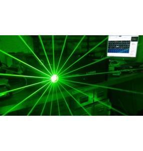 Laser 1W Vert et lentille 360 Discoscan